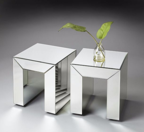 Mitered Mirrored Bunching Table