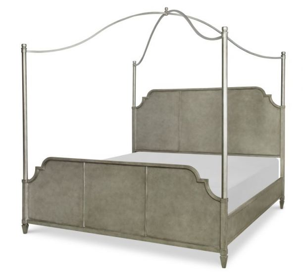 Upstate Canopy Metal Bed, Queen In Conciare