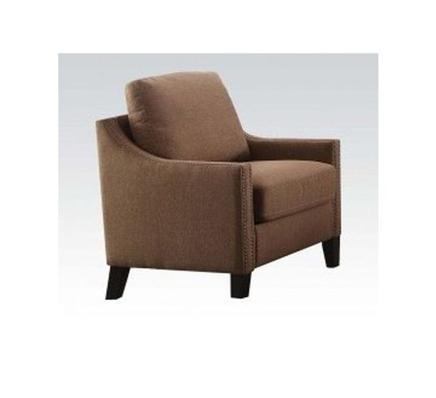 Zapata Aaron's Chair with Brown Linen Finish