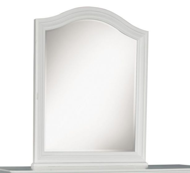 Madison Arched Mirror In Natural White