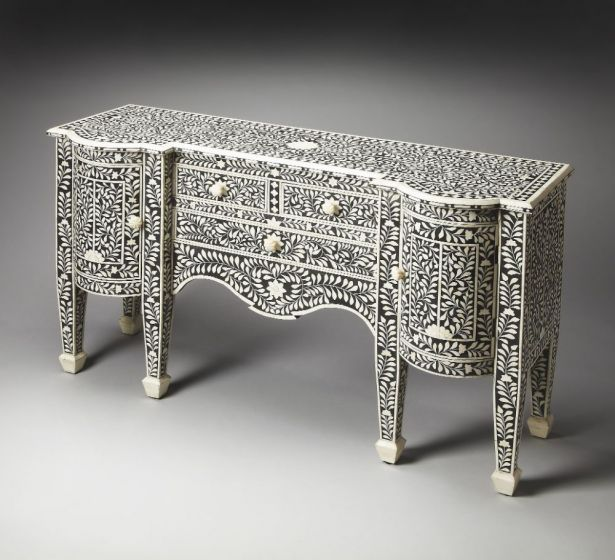 Victoria Black Bone Inlay Buffet