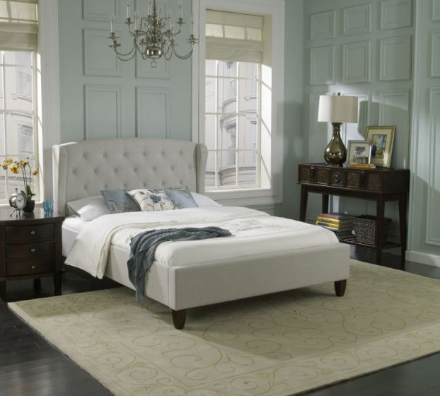 Posey Upholstered Bed in Natural
