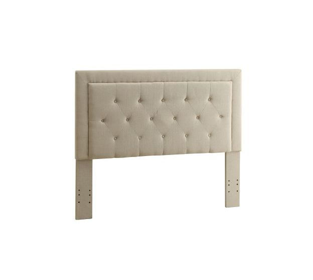Clayton Full/Queen Tufted Panel Headboard in Natural