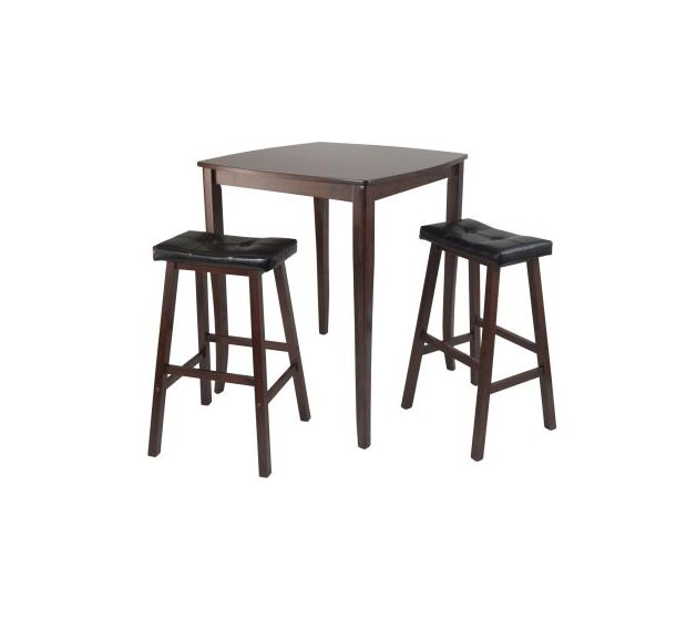 Inglewood 3 Piece Stoneberry Pub Set in Antique Walnut
