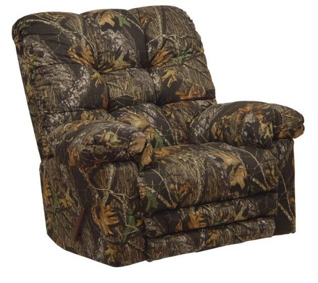 Magnum Camo Chaise Rocker Recliner w/Heat & Massage