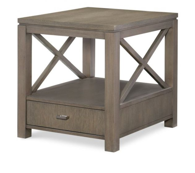 Highline End Table In Greige