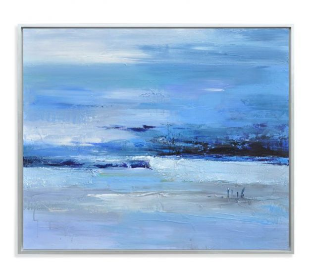 Calmness of Blue in Canvas Wrap