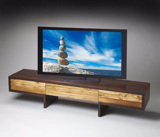 Sheesham and Teak Lowboy Entertainment Center