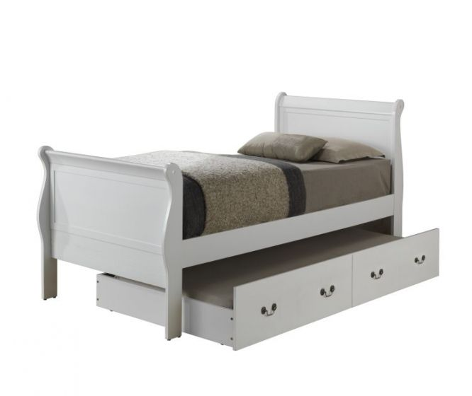 Twin Trundle Bed in White