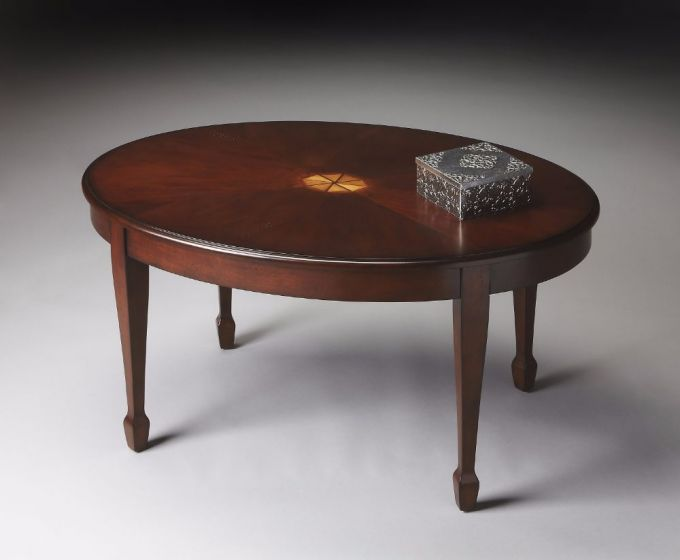 Clayton Plantation Cherry Oval Cocktail Table