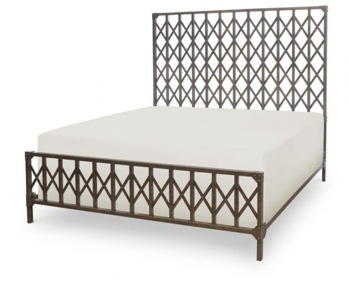 Metalworks Metal Bed King In Factory Chic