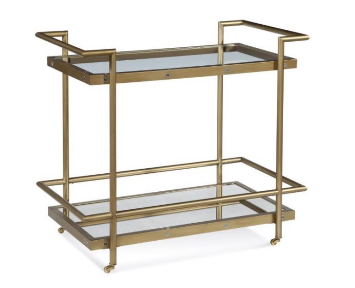 Fouquet Tea Cart in Satin Brass