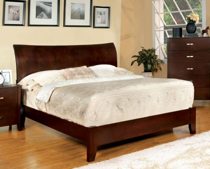 Cassia Curved Panel Headboard King Bed