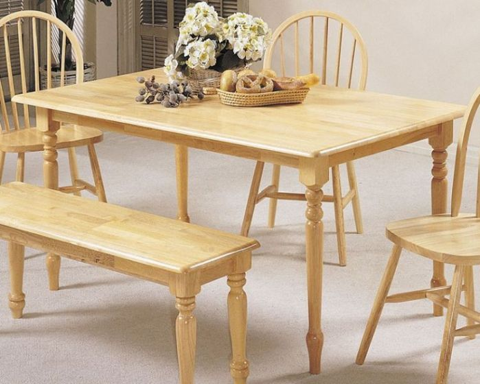 Farmhouse Natural Dining Table (Table Only)