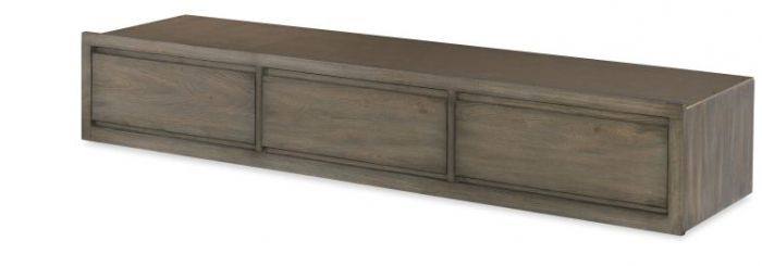 Big Sky Underbed Storage Drawer In Weathered Oak