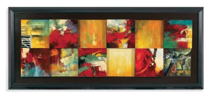 Red Abstract in Canvas Wrap