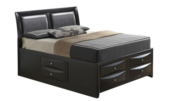 Queen Storage Bed in Black