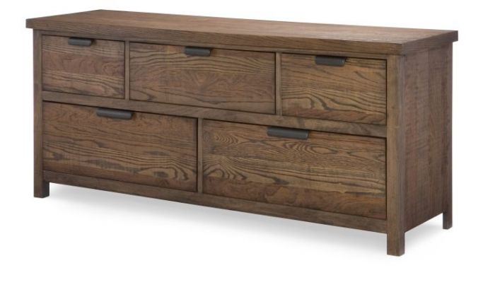Fulton County 5 Drawer Dresser In Tawny Brown