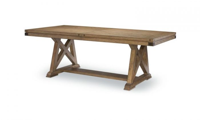 Metalworks Trestle Table In Factory Chic