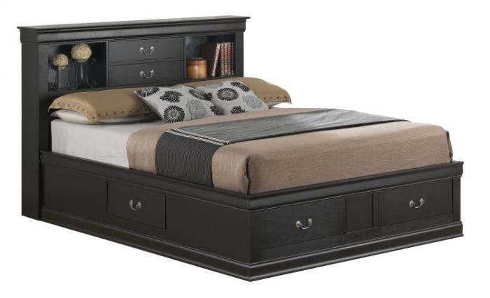 Full Storage Bed in Black