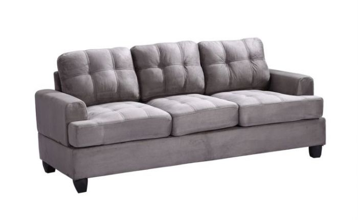 Ashley Sofa in Grey Suede