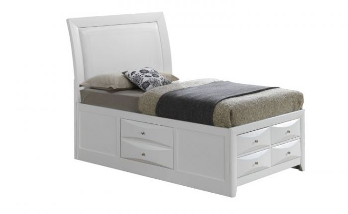 Twin Storage bed in White