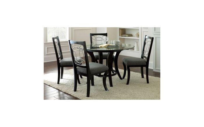 Cayman 5 Piece Casual Dining Set in Black