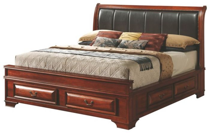 King Storage bed in Cherry