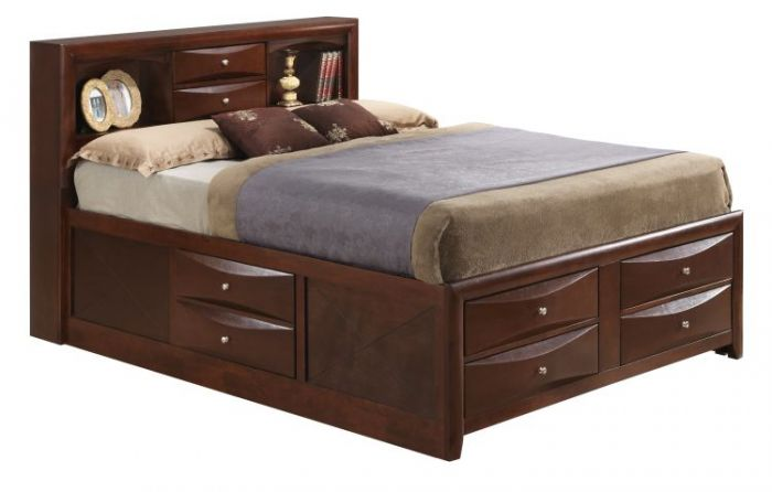 Full Storage Bed in Cherry