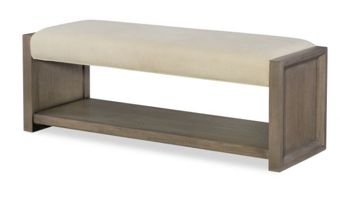 Highline Upholstered Bench In Greige