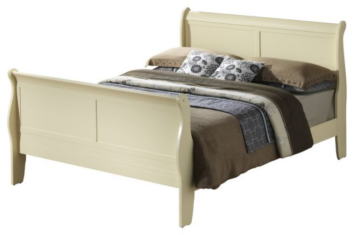 Bob's King Wooded Bed in Beige