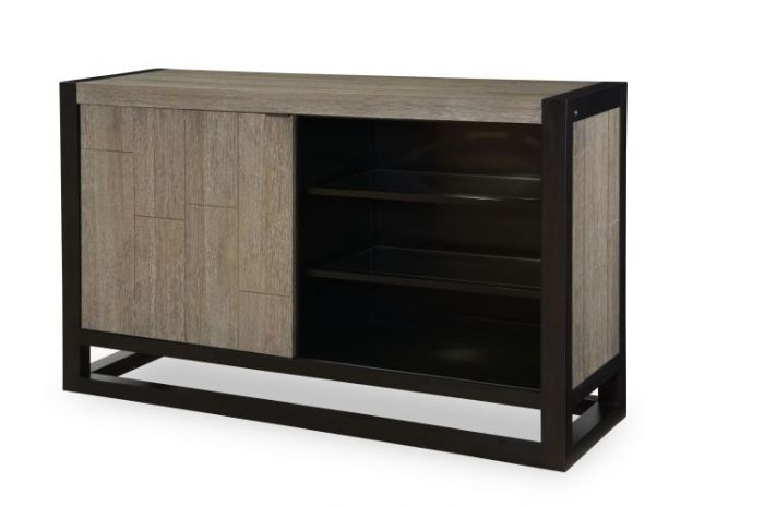 Helix Credenza In Charcoal & Stone