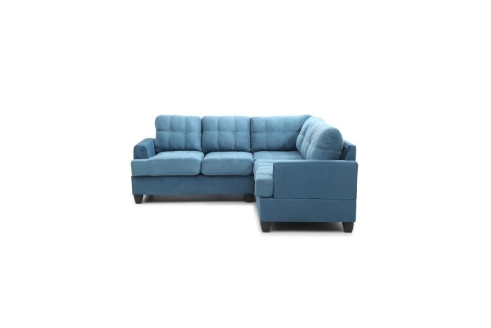 Cavalier Sectional (2 Boxes) in Aqua Suede