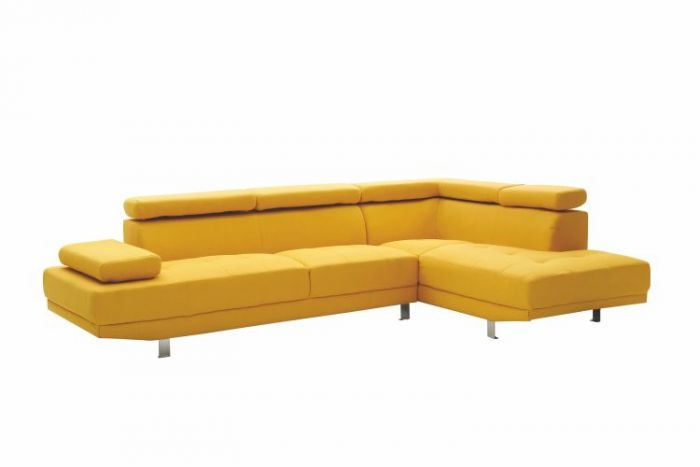Milan Sectional in Yellow