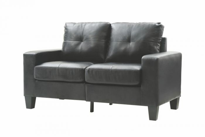 Newbury Modular Ashley Loveseat in Black