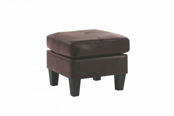 Ottoman in Cappuccino Faux Leather