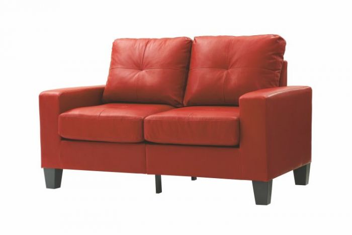 Newbury Modular Loveseat in Red