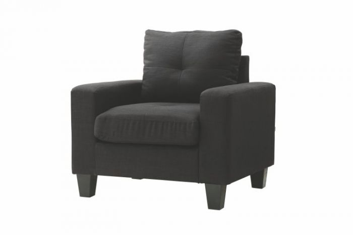 Newbury Club Ashley Chair in Black