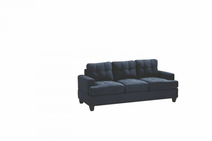 Ashley Sofa in Navy Blue Suede