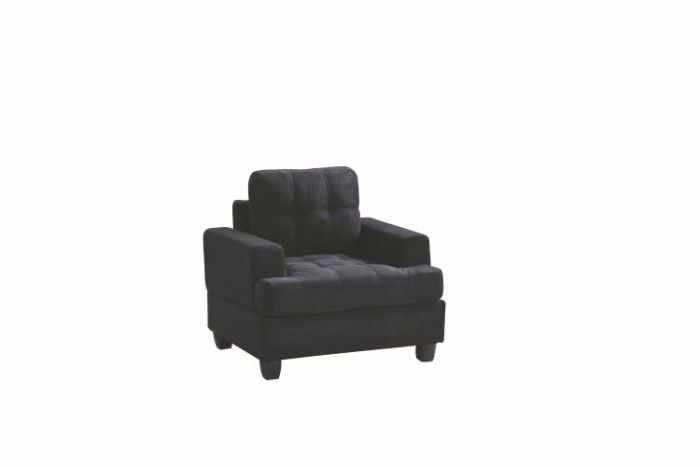 Progressive Chair in Black Suede