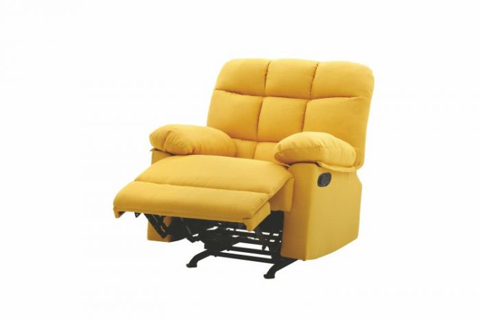 ROCKER RECLINER in Yellow Fabric