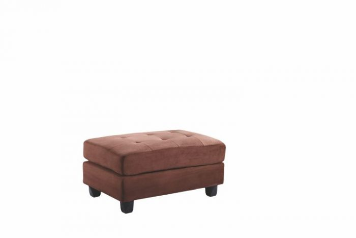 Ottoman in Chocolate Suede