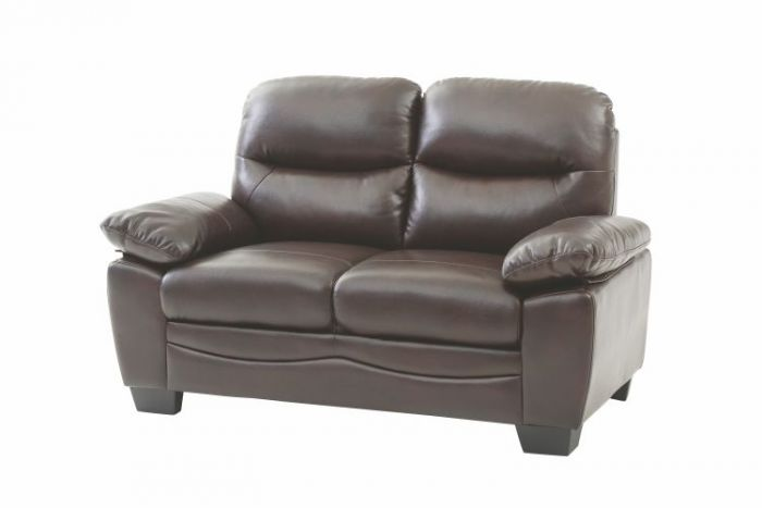 Ashley Loveseat in Dark Brown Faux Leather