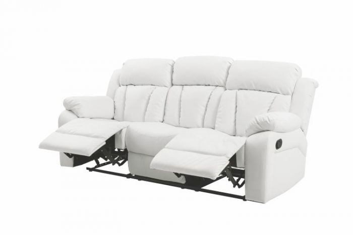 Ashley Sofa in White Faux Leather
