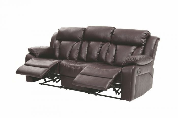 Ashley Sofa in Brown Faux Leather