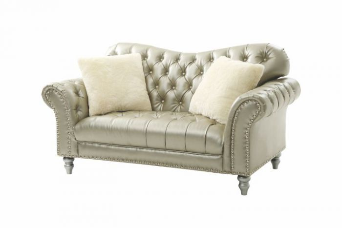 Progressive Loveseat in Gilver Faux Leather