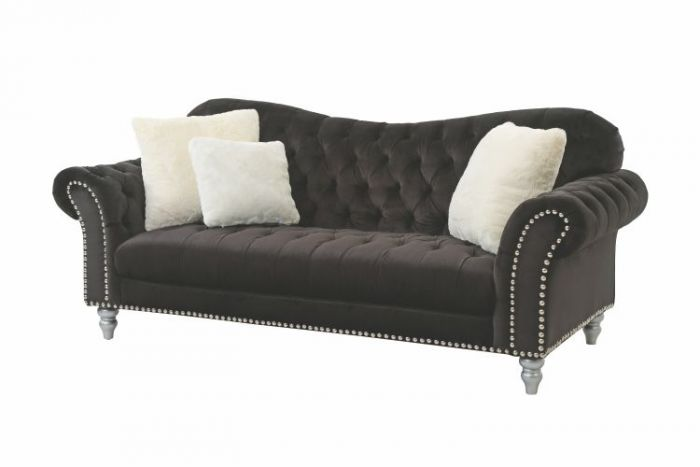 Ashley Sofa in Black Velvet