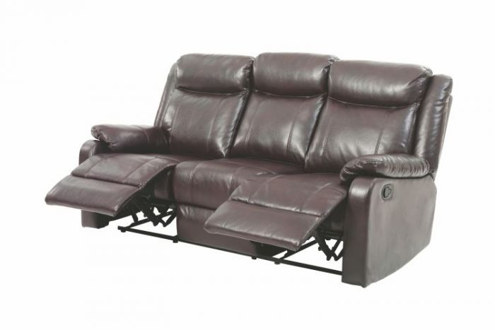 Ashley Sofa in Dark Brown Faux Leather