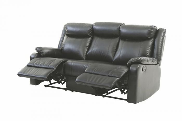 Ashley Sofa in Black Faux Leather