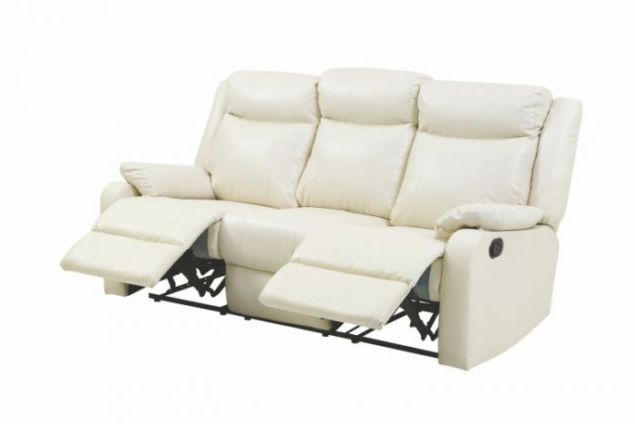 Ashley Sofa in Pearl Faux Leather